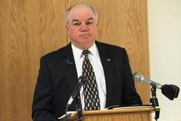 Rockingham County Attorney Jim Reams held a press conference about the Danville shooting at the Rockingham County Superior Court in Brentwood, NH.